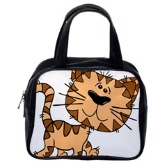 Cats Kittens Animal Cartoon Moving Classic Handbags (one Side)