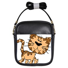 Cats Kittens Animal Cartoon Moving Girls Sling Bags