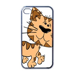 Cats Kittens Animal Cartoon Moving Apple Iphone 4 Case (black)