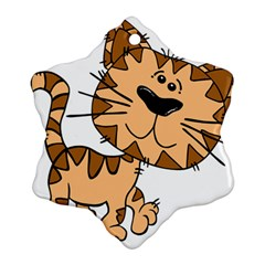 Cats Kittens Animal Cartoon Moving Ornament (snowflake)