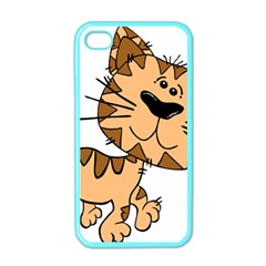 Cats Kittens Animal Cartoon Moving Apple Iphone 4 Case (color)