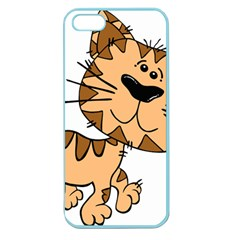 Cats Kittens Animal Cartoon Moving Apple Seamless Iphone 5 Case (color)