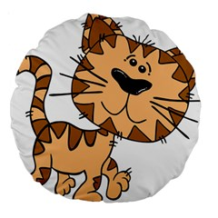 Cats Kittens Animal Cartoon Moving Large 18  Premium Round Cushions