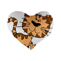 Cats Kittens Animal Cartoon Moving Standard 16  Premium Heart Shape Cushions