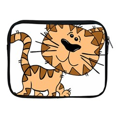Cats Kittens Animal Cartoon Moving Apple Ipad 2/3/4 Zipper Cases