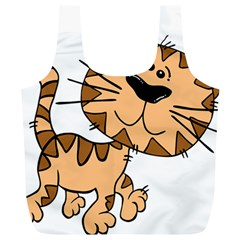 Cats Kittens Animal Cartoon Moving Full Print Recycle Bags (l)