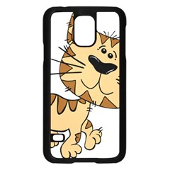 Cats Kittens Animal Cartoon Moving Samsung Galaxy S5 Case (black)