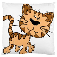 Cats Kittens Animal Cartoon Moving Large Flano Cushion Case (one Side)