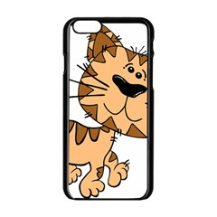 Cats Kittens Animal Cartoon Moving Apple Iphone 6/6s Black Enamel Case