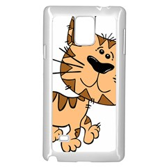 Cats Kittens Animal Cartoon Moving Samsung Galaxy Note 4 Case (white) by Simbadda