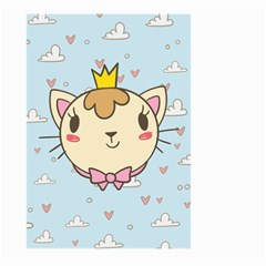 Cat Cloud Heart Texture Kitten Large Garden Flag (two Sides) by Simbadda