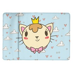 Cat Cloud Heart Texture Kitten Samsung Galaxy Tab 10 1  P7500 Flip Case