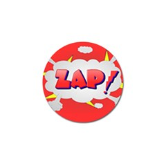 Comic Bubble Popart Cartoon Action Golf Ball Marker (10 Pack) by Simbadda