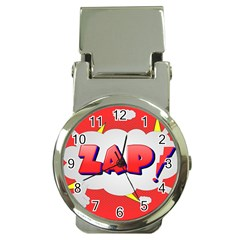 Comic Bubble Popart Cartoon Action Money Clip Watches by Simbadda