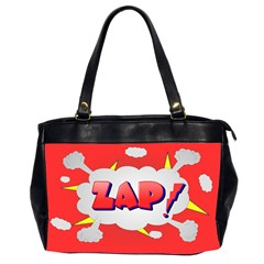 Comic Bubble Popart Cartoon Action Office Handbags (2 Sides)