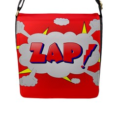 Comic Bubble Popart Cartoon Action Flap Messenger Bag (l)