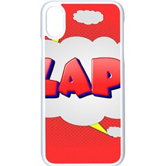 Comic Bubble Popart Cartoon Action Apple Iphone X Seamless Case (white)