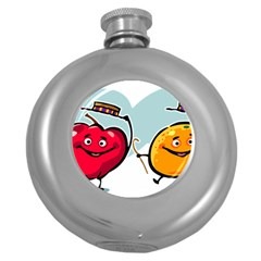 Dancing Fruit Apple Organic Fruit Round Hip Flask (5 Oz) by Simbadda