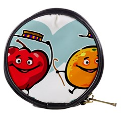 Dancing Fruit Apple Organic Fruit Mini Makeup Bags by Simbadda