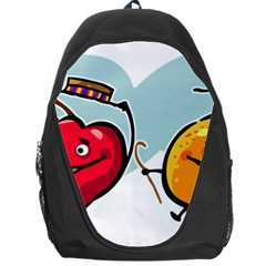 Dancing Fruit Apple Organic Fruit Backpack Bag by Simbadda