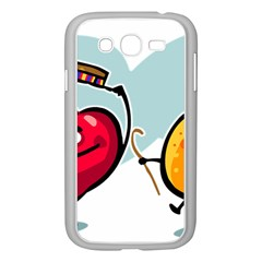 Dancing Fruit Apple Organic Fruit Samsung Galaxy Grand Duos I9082 Case (white) by Simbadda