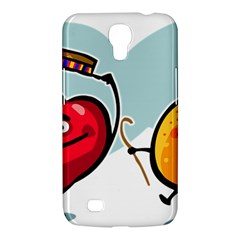 Dancing Fruit Apple Organic Fruit Samsung Galaxy Mega 6 3  I9200 Hardshell Case by Simbadda