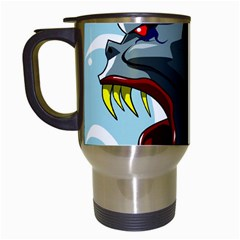 Demon Devil Evil Monster Alien Travel Mugs (white) by Simbadda
