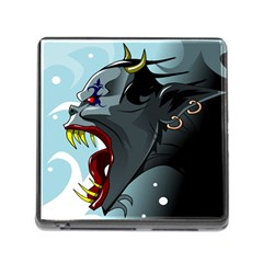 Demon Devil Evil Monster Alien Memory Card Reader (square)