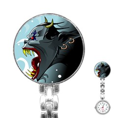 Demon Devil Evil Monster Alien Stainless Steel Nurses Watch