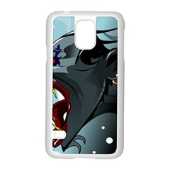 Demon Devil Evil Monster Alien Samsung Galaxy S5 Case (white)