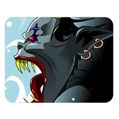 Demon Devil Evil Monster Alien Double Sided Flano Blanket (large)