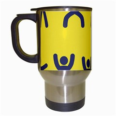 Gymnast Stick Man Man Stick Travel Mugs (white) by Simbadda