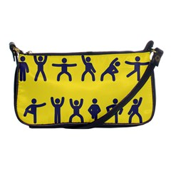 Gymnast Stick Man Man Stick Shoulder Clutch Bags
