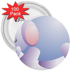 Elephant 3  Buttons (100 Pack)  by Simbadda