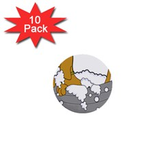 Dog Bath Grooming 1  Mini Buttons (10 Pack)