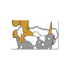 Dog Bath Grooming Magnet (name Card)