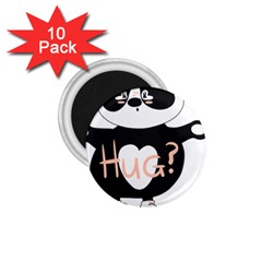 Panda Hug Sorry Cute Cute Bear 1 75  Magnets (10 Pack)