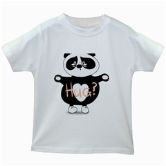 Panda Hug Sorry Cute Cute Bear Kids White T-shirts by Simbadda
