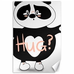 Panda Hug Sorry Cute Cute Bear Canvas 24  X 36