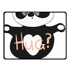 Panda Hug Sorry Cute Cute Bear Fleece Blanket (small) by Simbadda