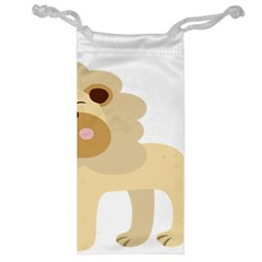 Lion Cute Sketch Funny Jewelry Bag by Simbadda