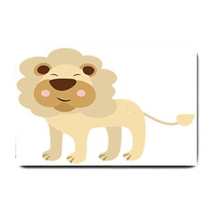 Lion Cute Sketch Funny Small Doormat  by Simbadda