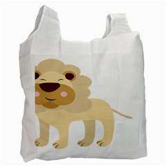 Lion Cute Sketch Funny Recycle Bag (one Side) by Simbadda