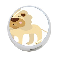Lion Cute Sketch Funny 4 Port Usb Hub (two Sides)  by Simbadda