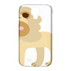 Lion Cute Sketch Funny Samsung Galaxy S4 Classic Hardshell Case (pc+silicone)