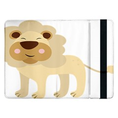 Lion Cute Sketch Funny Samsung Galaxy Tab Pro 12 2  Flip Case