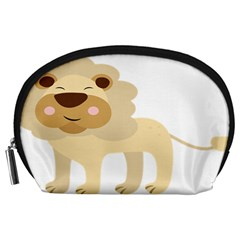 Lion Cute Sketch Funny Accessory Pouches (large)  by Simbadda