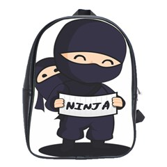 Ninja Baby Parent Cartoon Japan School Bag (large)