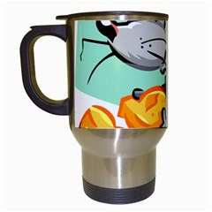 Mouse Cheese Tail Rat Hole Travel Mugs (white)