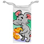 Mouse Cheese Tail Rat Hole Jewelry Bag Back
